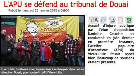 Les membres de l'APU Vieux Lille au départ pour la cour d'appel de Douai